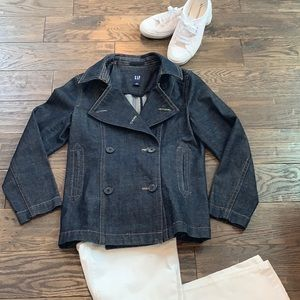 GAP Dark Wash Denim Jacket Size S